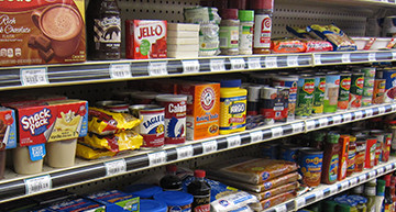 Shelves of Food Items - Grocery